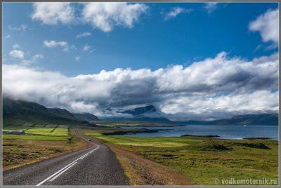 Дорога N1 на востоке Исландии