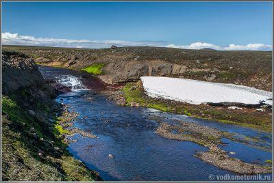 Исландия. Виды на F910 - типо водопада мелкого