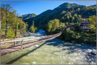 Грузия подвесной мост