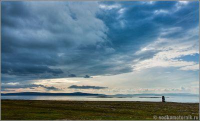 Вид на летнее Баренцево море