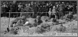 Немцы в окопе