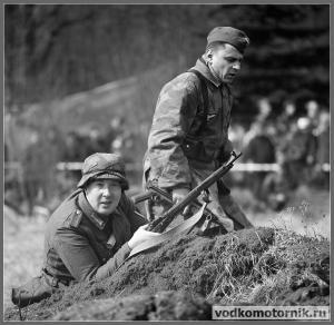Солдаты вермахта в обороне