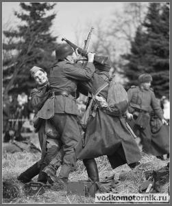 Рукопашный бой на немецком рубеже