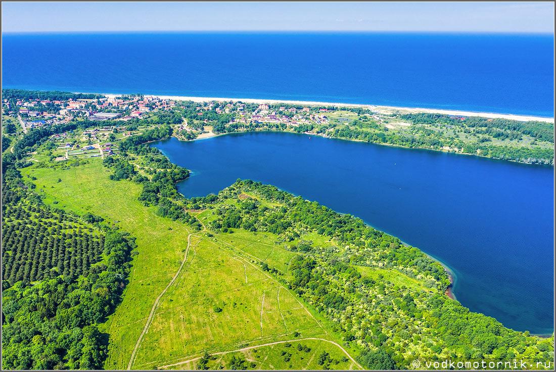 Синявинское озеро с высоты комариного полета