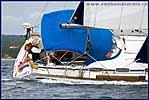 Яхта Bavaria 46 на вираже