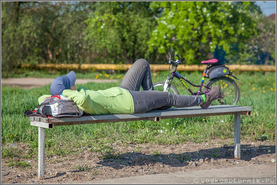 Распрямление позвоночника велосипедиста
